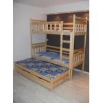 Dviaukštė trivietė lova ELEGANCE3