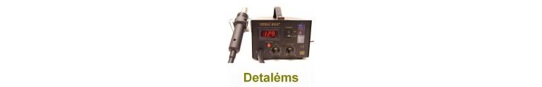 Plastikinių detalių ir elektronikos litavimo stotelės