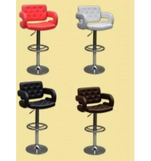 Minkšta odinė baro kėdė VOTANA su porankiais