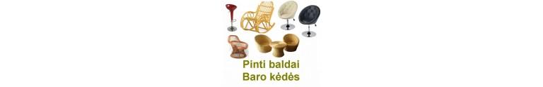 Pinti baldai, baro kėdės